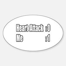 """Heart Attack Survivor"" Oval Decal"