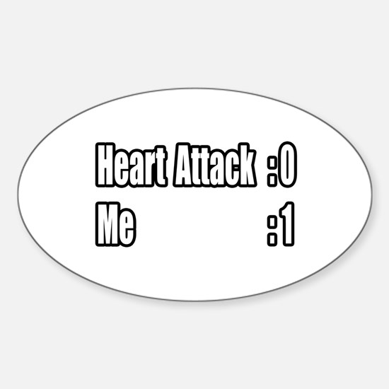 """Heart Attack Survivor"" Oval Decal"