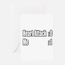 """""""Heart Attack Survivor"""" Greeting Card"""