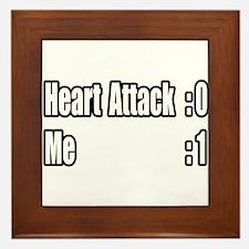 """""""Heart Attack Survivor"""" Framed Tile"""