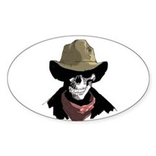 Cowboy Skull Oval Decal