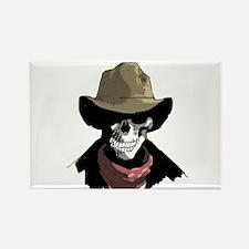 Cowboy Skull Rectangle Magnet