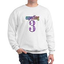 Expecting 3 Sweatshirt
