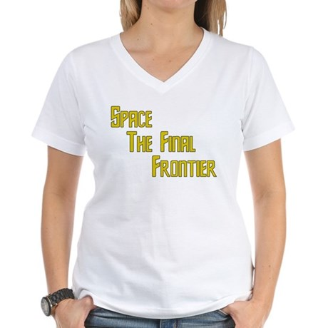 Space The Final Frontier Women's V-Neck T-Shirt