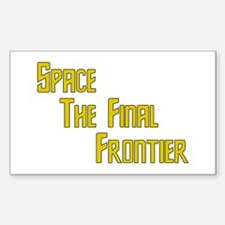 Space The Final Frontier Rectangle Decal