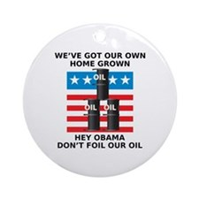Drill American Oil Ornament (Round)