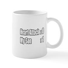 """Son Beats Heart Attack"" Mug"