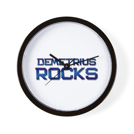 demetrius rocks Wall Clock