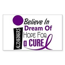 BELIEVE DREAM HOPE Alzheimers Rectangle Decal