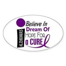 BELIEVE DREAM HOPE Alzheimers Oval Decal