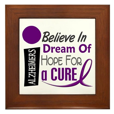 BELIEVE DREAM HOPE Alzheimers Framed Tile
