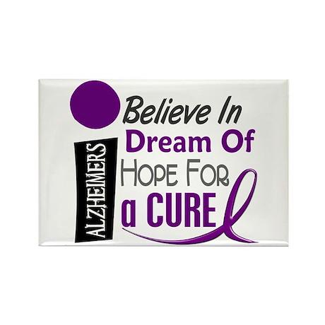 BELIEVE DREAM HOPE Alzheimers Rectangle Magnet (10