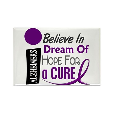 BELIEVE DREAM HOPE Alzheimers Rectangle Magnet (10