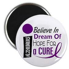 "BELIEVE DREAM HOPE Alzheimers 2.25"" Magnet (10 pac"