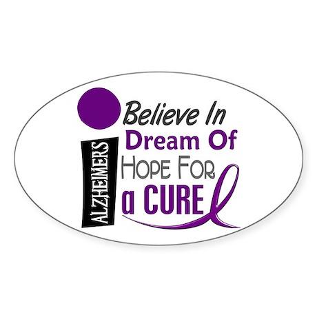 BELIEVE DREAM HOPE Alzheimers Oval Sticker (10 pk)