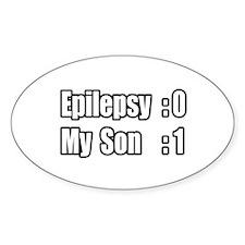 """Son Beats Epilepsy"" Oval Decal"