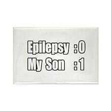 """Son Beats Epilepsy"" Rectangle Magnet"