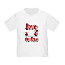 Love x 2=twins T