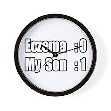 """My Son Battles Eczema"" Wall Clock"