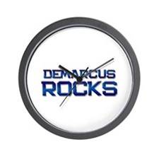 demarcus rocks Wall Clock
