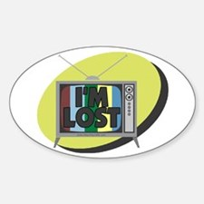 I'm Lost Oval Decal