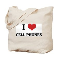 I Love Cell Phones Tote Bag