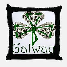 Galway Shamrock Throw Pillow