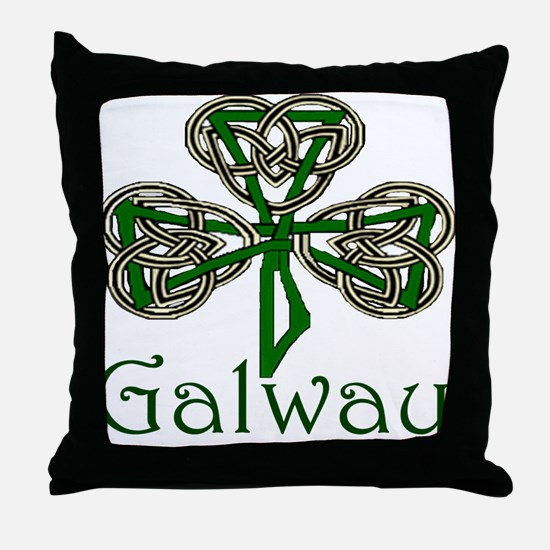 Galway Shamrock Throw Pillow