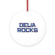 delia rocks Ornament (Round)