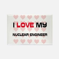I Love My Nuclear Engineer Rectangle Magnet