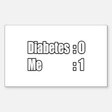 """I'm Beating Diabetes"" Rectangle Sticker 10 pk)"