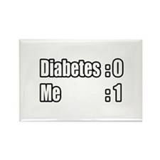"""""""I'm Beating Diabetes"""" Rectangle Magnet (10 pack)"""