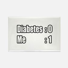 """I'm Beating Diabetes"" Rectangle Magnet"
