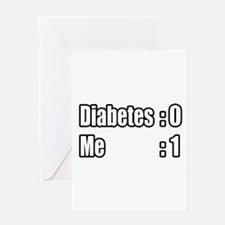 """I'm Beating Diabetes"" Greeting Card"