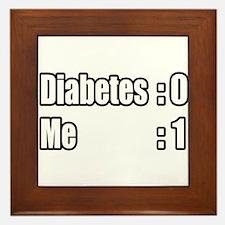 """""""I'm Beating Diabetes"""" Framed Tile"""
