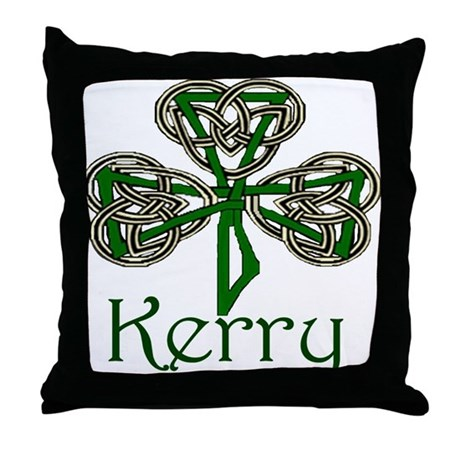 Kerry Shamrock Throw Pillow
