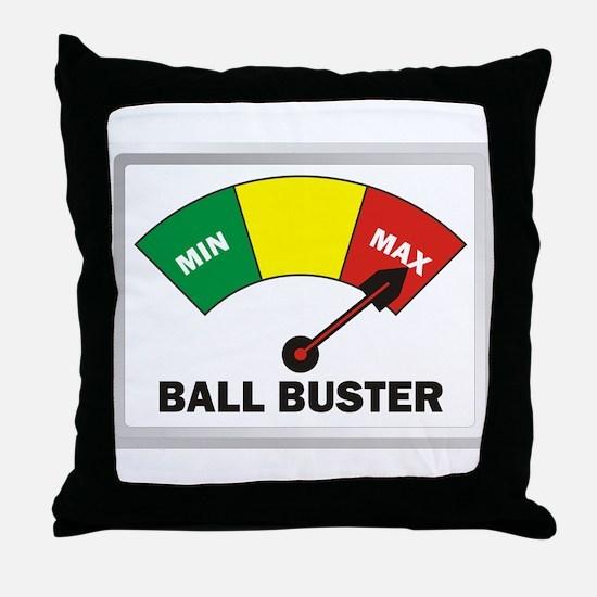 Ball Buster Throw Pillow