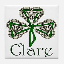Clare Shamrock Tile Coaster