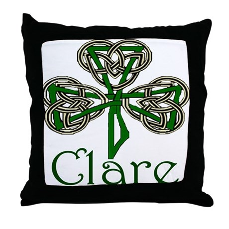 Clare Shamrock Throw Pillow