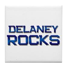 delaney rocks Tile Coaster