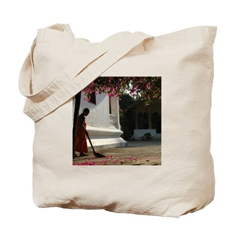 Monk In Action Tote Bag
