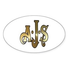 AJS Oval Decal