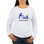 Colon Cancer Faith Women's Long Sleeve T-Shirt