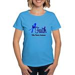 Colon Cancer Faith Women's Dark T-Shirt