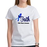 Colon Cancer Faith Women's T-Shirt