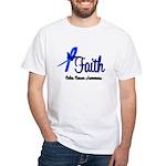 Colon Cancer Faith White T-Shirt