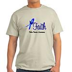 Colon Cancer Faith Light T-Shirt