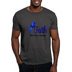 Colon Cancer Faith Dark T-Shirt