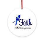 Colon Cancer Faith Ornament (Round)