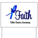 Colon Cancer Faith Yard Sign